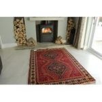 Red Persian Shiraz Wool Rug