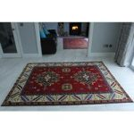 Oriental Indo Kazak Red & Blue Wool Rug