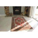 Serapi Indo Red & Blue Oriental Wool Rug