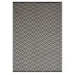 Black & White Trellis Contemporary Rug Sonic 60×110