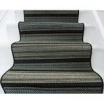 Striped Black and Blue Stair Carpet – Panama 015 05 67cm Width