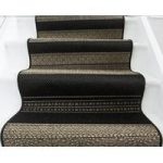 Black & Beige Striped Stair Carpet Panama 042 16 67cm Width