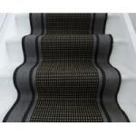 Modern Grey & Beige Stair Carpet Panama