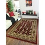 Classic Dark Red Vintage Style Soft Quality Rugs – 0205 Westbury – 80