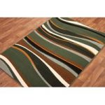 Shiraz Modern Multi Colour Green Rug 7810-R33