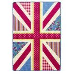 Kids Blue Pink Union Jack Bedroom Mat