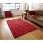 High Quality Luxurious Energetic Red 100% Wool Shag Rug – Bobbles