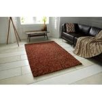 Super Soft Thick Warm Terracotta Shaggy Wool Rug – Bobbles 120cm x