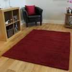 Classic Red Handcarved Wool Rug – Fauna 80x150cm (2′ x 3'7 )