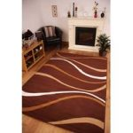 Shiraz Brown Beige Modern Waves Rug 1147-B33 – 70cm x 230cm