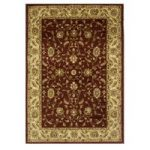 Traditional Tile Red Leaf Design Rug – 7709 Westbury – 110 cm x 160 cm