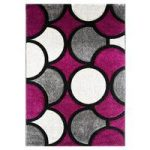 Havana Bubble Purple Modern Rugs 150 cm x 220 cm (4'11 x 7'3 )