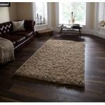 High Quality Thick Soft Touch Beige Shaggy Rug – Athens 90cm x 150cm