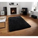 Heavyweight Soft Grey & Blue Mix Shaggy Wool Rug – Athens 120cm x