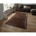 Soft Dense Warm Beige Shaggy Rug – Seattle 110cm x 170cm (3'7 x 5'7 )