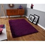 High Density Super Soft Purple Shaggy Rug – Seattle 60cm x 115cm (2′ x