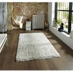 Ultra Soft Polyester Heavyweight Cream Shaggy Rug – Seattle 110cm x