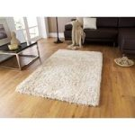 Luxury Extra Soft Thick Cream Shaggy Lounge Rug – Geneva 90cm x 150cm