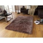 Heavyweight Shiny Quality Light Brown Shaggy Rug – Geneva 145cm x