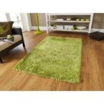 Thick Super Soft Lime Green Polyester Shaggy Rug – Geneva 90cm x 150cm