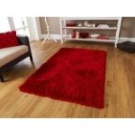 High Quality Soft Rich Red Chunky Shag Pile Rug – Geneva 90cm x 150cm