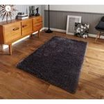 Luxury High Sheen Heavyweight Dense Grey Shaggy Area Rug – Geneva 90cm