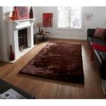 High Quality Soft Brown Savoy Shag Rug – 120cm x 170cm (3'11 x 5'7 )
