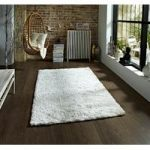 Soft Elegant High Gloss Quality Cream Shaggy Pile Rug – Savoy 60cm x