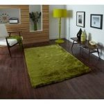 High Class Soft Hand Tufted Bright Green Shag Rug – Savoy 60cm x 120cm