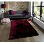 Luxury Deep High Shine Soft Purple Shaggy Rug – Savoy 60cm x 120cm (2′