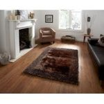 Stylish Elegant Chocolate Brown Soft Shag Rug – Santa Clara 120cm x