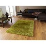 Dense Soft Thick Earthy Green Shaggy Area Rug – Santa Clara 120cm x
