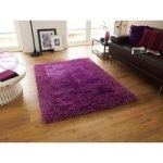 Luxurious Dense High Quality Purple Shaggy Rug – Santa Clara 120cm x