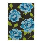 Stylish High Class Vibrant Blue Floral Pattern Rug 793 – Phoenix 150cm