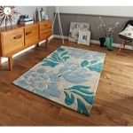 Luxury Soft High End Beige Floral Design Rug 33 – Phoenix 80cm x 150cm