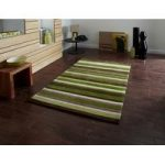 Stylish Modern Phoenix Green Striped Lounge Rug 2022- 65cm x 225cm