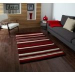 Quality Super Soft Rich Red Striped Acrylic Area Rug 2022 – Phoenix