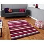 Soft Hand Carved Luxurious Purple Striped Rug 2022 – Phoenix 150cm x