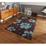 Soft Hand Carved Chocolate Brown Luxury Floral Rug 1512 – Phoenix 60cm