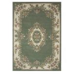 Traditional Green Wool Rug – Riga 80x150cm (2′ x 3'7 )