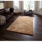 Soft High Quality Beige Cracked Effect Wool Rugs Sorrento 50 – 90cm x