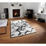 Luxurious High Class Ivory & Black Rugs Carved Wool Rugs Sorrento 50 –