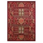 Red Aztec Traditional Lounge Rugs – 160cm x 225cm (5ft 3 x 7ft 4 )