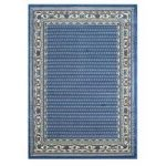 Blue Bordered Traditional Living Room Rugs – 120cm x 170cm (4ft x 5ft