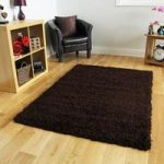 Soft Brown Shaggy Lounge Rugs – 160cm x 230cm (5ft 3 x7ft 6 )