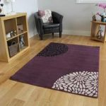 Shiraz Purple & Black Modern Motif Rug 1366-H33 – 63cmx110cm