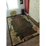 Shiraz Black and Brown Modern Rug 8160-B11 – 63cm x 110cm (2ft 1 x 3ft