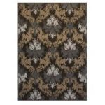 Brown & Grey Trellis Modern Rug Shiraz 80x150cm