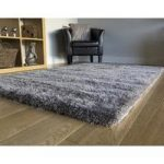 Grey Soft Shaggy Rug Puffy 133×190