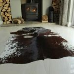 Red & Brown Leather Cowhide 190cm x 170cm